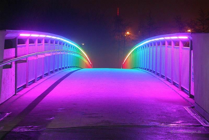 Auf der neuen Regenbogenbrücke am 23.12.2008