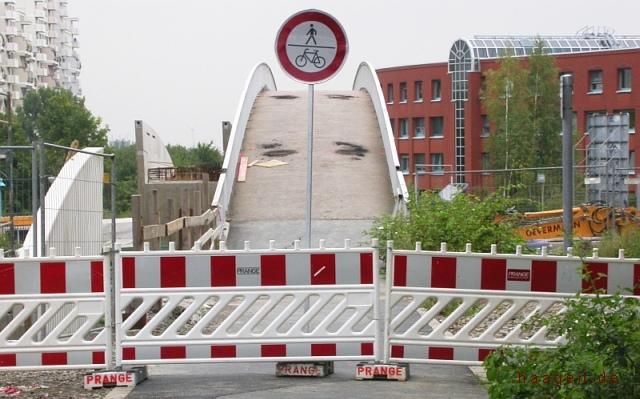 Abriss Regenbogenbrücke August 2008