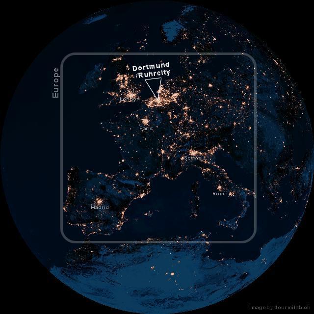 Ruhr Dortmund / Ruhrcity / Germany / Europe / World @ Night